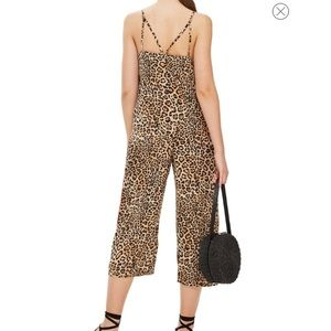 dcce28dc764 Topshop Other - Top Shop Tall Animal Print Satin Jumpsuit ✨